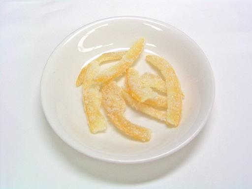 国産レモン外皮糖漬け菓子