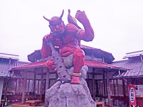 鬼北町道の駅「森の三角ぼうし」鬼のモニュメント2